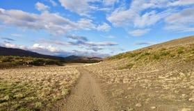 Island Laugavegur trek, stegvis arkivfoton
