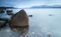 Island life. Shot taken from the Isle of Bute in Scotland overlooking the mainland stock images