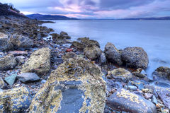 Island life. Shot taken from the Isle of Bute in Scotland overlooking the mainland Royalty Free Stock Photos
