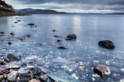 Island life. Shot taken from the Isle of Bute in Scotland overlooking the mainland Stock Image