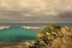 Island life on Okinawa. Over look on the West coast of Okinawa Japan Stock Photos