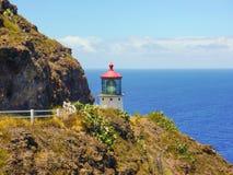 Island lighthouse Royalty Free Stock Images