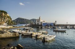Island of Lipari port of Marina Corta royalty free stock image