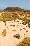 Island of Lobos in Fuerteventura Royalty Free Stock Images