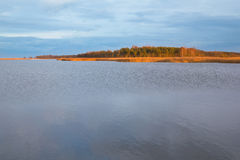 Island located near to the city of Gdansk, Poland Stock Photos