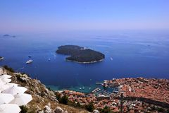 Island of lokrum Royalty Free Stock Photography