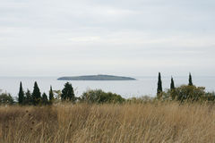 Island. Lonely island off the coast of the Black Sea in Bulgaria Royalty Free Stock Photo