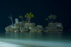 The Island. Long exposure of an islet at Station 1 in Boracay Stock Photography