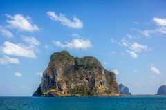 Island. Lonly island sunny day in andaman sea Royalty Free Stock Photos