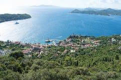 Island Lopud. Lopud island Croatia hill view Stock Photo