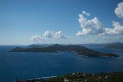 Island Lopud. Lopud island Croatia hill view Stock Photos