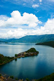 Island of lugu lake Stock Photos