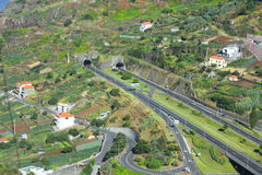 Island Madiera. Roads and tunnels. Stock Photo
