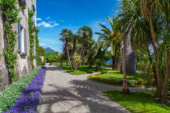 Island Madre  Stresa Lake Maggiore Italy Royalty Free Stock Photos
