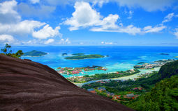 Island Mahé with Sainte Anne Marine National Park. Island Mahé with Sainte Anne Marine National Park, Republic of Seychelles Stock Image