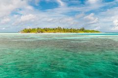 Island on the maldives Royalty Free Stock Photography