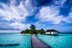 Island of Maldives. Royalty Free Stock Photos