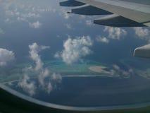 Island. Maldives from sky Stock Photo