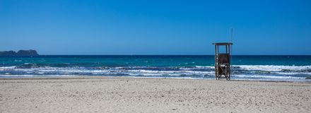 Island mallorca. sandy beach in the Mediterranean Sea.  Stock Photo