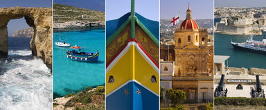 The Island of Malta. The Mediterranean island of Malta Stock Images