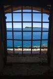 Island of Mamula fortress, the entrance to the Boka Kotorska bay, Montenegro. Photo of Island of Mamula fortress, the entrance to the Boka Kotorska bay royalty free stock photo