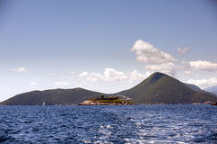 Island of Mamula fortress, the entrance to the Boka Kotorska bay, Montenegro Royalty Free Stock Image