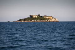 Island of Mamula fortress, the entrance to the Boka Kotorska bay, Montenegro Royalty Free Stock Photo