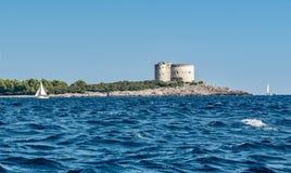 Island Mamula in Montenegro, Europe Stock Photography