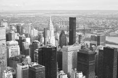 Island of Manhattan. View of Manhattan from a skyscraper Royalty Free Stock Photos
