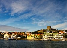 Marstand castle on th island of marstrand royalty free stock image