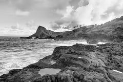 Island Maui cliff coast line with ocean. Hawaii. Stock Photo