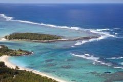 Mauritius. Island Mauritius. Aerial View stock photography
