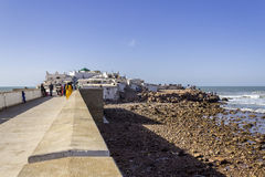 Island and Mausolée of Sidi Abderrahman, a touristic atraction. In Casablanca. Morocco Stock Photography