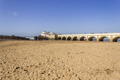 Island and Mausolée of Sidi Abderrahman, a touristic atraction. In Casablanca. Morocco Stock Images
