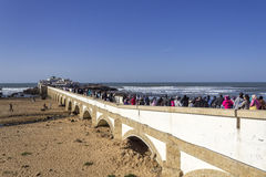 Island and Mausolée of Sidi Abderrahman, a touristic atraction. In Casablanca. Morocco Stock Image