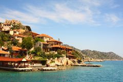 Island in Mediterranean Sea Stock Photo
