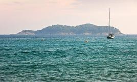 Island in Mediterranean sea Royalty Free Stock Image