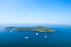 Island in the Mediterranean sea Royalty Free Stock Image