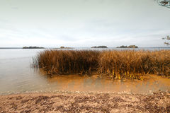 Island melancholic autumn Stock Photography