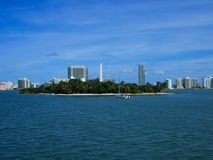 an island in miami royalty free stock photos