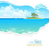 Island in the middle of ocean. Beautiful view of Island in the middle of ocean Royalty Free Stock Photo