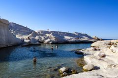 The island of Milos royalty free stock photos