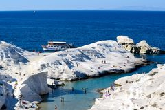 The island of Milos royalty free stock photography