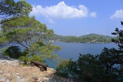 Island Mljet. Big lake of national park on island Mljet, Croatia, Europe Stock Photography