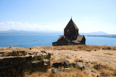 The Island Monastery or Sevanavank (church) in  Sevan Island, Armenia Royalty Free Stock Photo