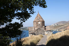 The Island Monastery or Sevanavank (church) in  Sevan Island, Armenia Royalty Free Stock Images