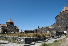 The Island Monastery or Sevanavank (church) in  Sevan Island Stock Photos