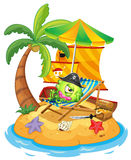 An island with a monster pirate Stock Photography