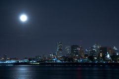 The island of Montreal at night royalty free stock image