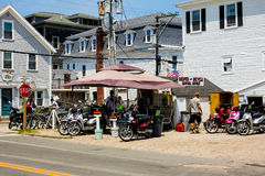 Island Moped Rentals -- Block Island, RI. Stock Images